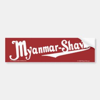 Myanmar-Shave - updated Burma-Shave Car Bumper Sticker