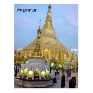 myanmar shwedagon post card