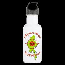 Myanmar Survivor 6.8 Earthquake 11-11-2012 18oz Water Bottle