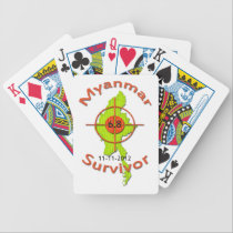 Myanmar Survivor 6.8 Earthquake 11-11-2012 Bicycle Playing Cards