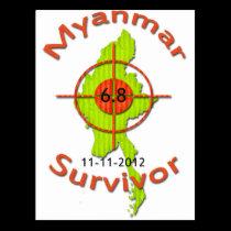 Myanmar Survivor 6.8 Earthquake 11-11-2012 Postcard