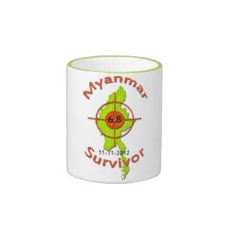 Myanmar Survivor 6.8 Earthquake 11-11-2012 Ringer Coffee Mug