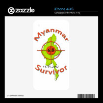 Myanmar Survivor 6.8 Earthquake 11-11-2012 Decal For The iPhone 4S