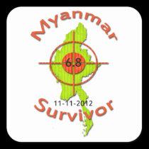 Myanmar Survivor 6.8 Earthquake 11-11-2012 Sticker
