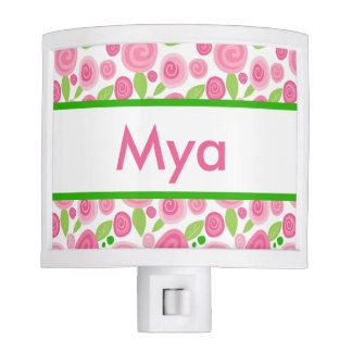 Mya's Personalized Rose Nightlight
