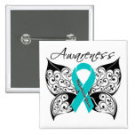 Myasthenia Gravis Awareness Butterfly Pinback Buttons