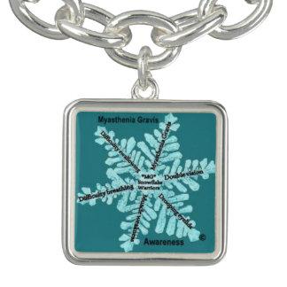 Myasthenia Gravis Awareness Charm Bracelet