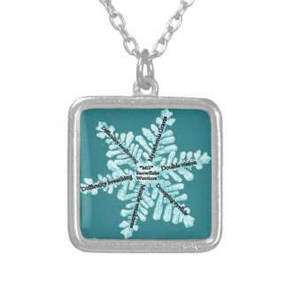 Myasthenia Gravis Awareness Gifts Silver Plated Necklace
