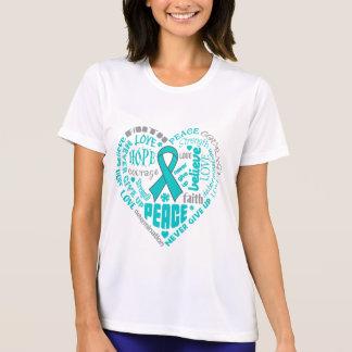 Myasthenia Gravis Awareness Heart Words T Shirt