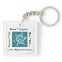 Myasthenia Gravis Awareness Keychain