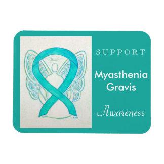 Myasthenia Gravis Awareness Ribbon Angel Magnet