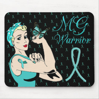 Myasthenia Gravis Awareness Ribbon Mouse Pad
