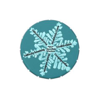 Myasthenia Gravis Awareness Small Snip Snap Tin Candy Tins