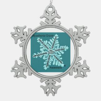 Myasthenia Gravis Awareness Snowflake Ornament