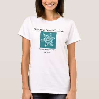 Myasthenia Gravis Awareness with Sysmptoms on Back T-Shirt