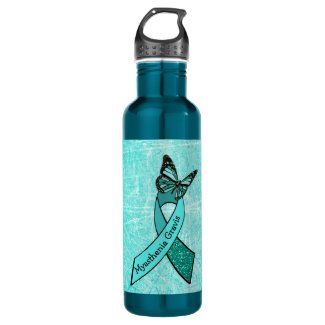Myasthenia Gravis Butterfly Water Bottle