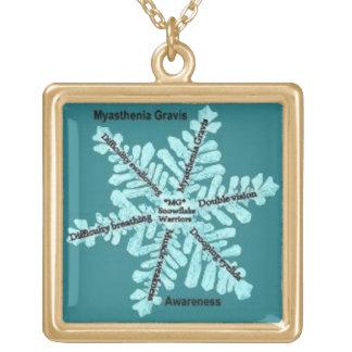 Myasthenia Gravis ladies Goldtone Necklace