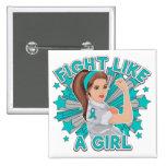 Myasthenia Gravis Modern Rosie Fight Like a Girl Pinback Buttons