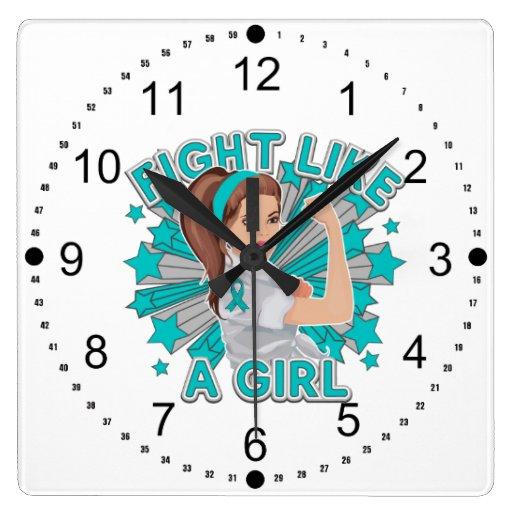Myasthenia Gravis Modern Rosie Fight Like a Girl Clocks