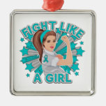 Myasthenia Gravis Modern Rosie Fight Like a Girl Christmas Tree Ornaments
