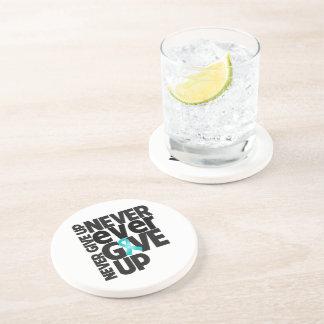 Myasthenia Gravis Never Ever Give Up Drink Coaster