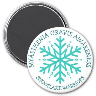 Myasthenia Gravis Snowflake Warrior Magnet