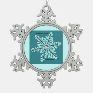 Myasthenia Gravis Teal Awareness Ornament