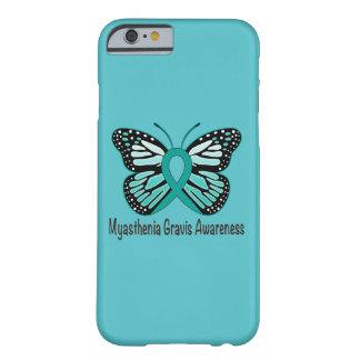 Myasthenia Gravis Teal Butterfly Awareness Ribbon Barely There iPhone 6 Case