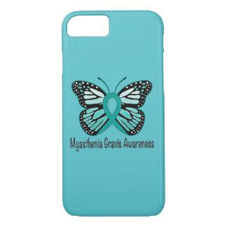 Myasthenia Gravis Teal Butterfly Awareness Ribbon iPhone 7 Case