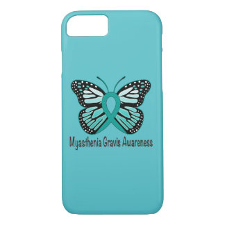 Myasthenia Gravis Teal Butterfly Awareness Ribbon iPhone 8/7 Case