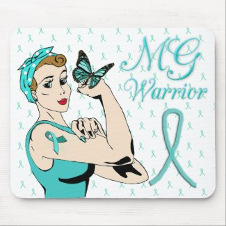 Myasthenia Gravis Warrior Lady Butterfly Mouse Pad