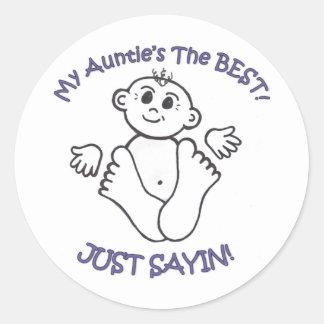 myauntie classic round sticker