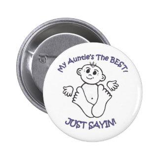 myauntie pinback button