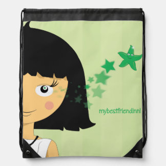 mybestfriendinni Drawstring Backpack