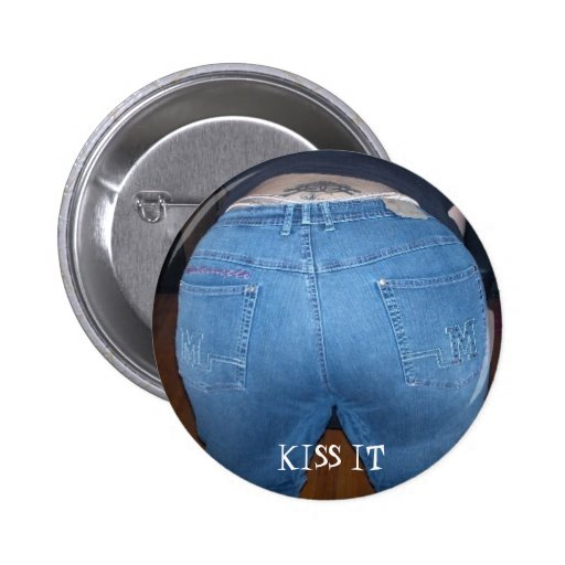 MYBUTT, KISS IT 2 INCH ROUND BUTTON