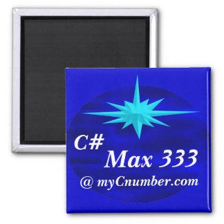 MyC Navy Oval 2 Refrigerator Magnet