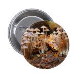 Mycena Inclinata Clustered Bonnet Mushroom Fungi Pinback Button