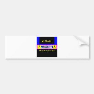 """""""MyCharity"""" Car Bumper Sticker"""