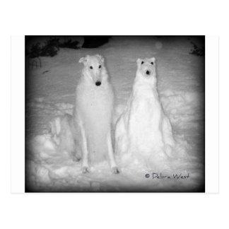 ¡Mychtar y su Snowdog! :) Postal