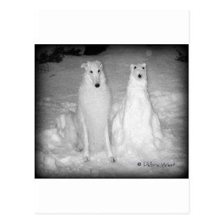 ¡Mychtar y su Snowdog! :) Tarjetas Postales