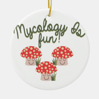 Mycology Is Fun! Double-Sided Ceramic Round Christmas Ornament