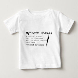 Mycroft blk baby T-Shirt
