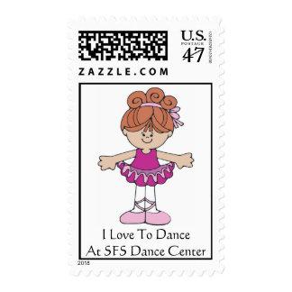 Mydancinggirl3, I Love To DanceAt SFS Dance Center Postage