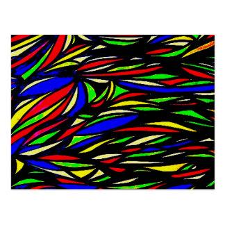 mydigitalcolourful seaweed painting postcard