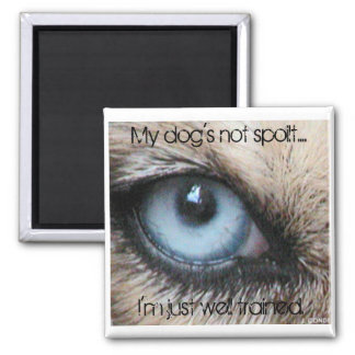 Mydogs not spoilt, I'm just well trained 2 Inch Square Magnet