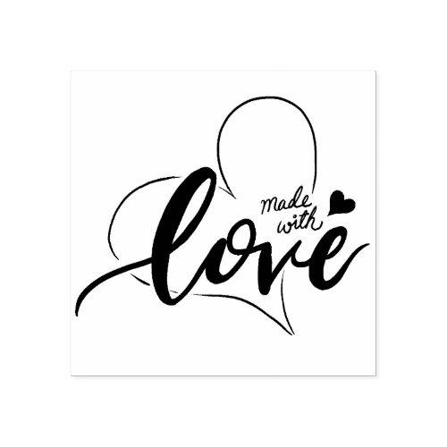 MyDoodlesAteMe Made With Love Stamp