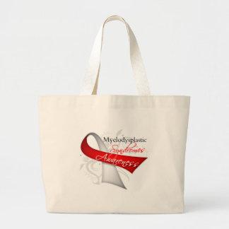 Myelodysplastic Syndromes Awareness Ribbon Canvas Bags
