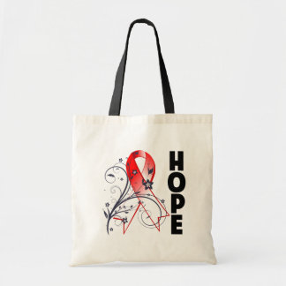 Myelodysplastic Syndromes Floral Hope Ribbon Tote Bags