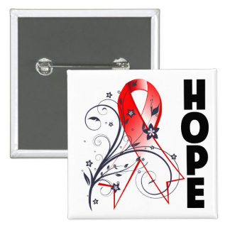 Myelodysplastic Syndromes Floral Hope Ribbon Buttons