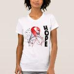Myelodysplastic Syndromes Floral Hope Ribbon Tees